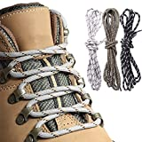 3pairs Shoe Laces Round Bootlaces Walking Boot Hiking Boot Strong Laces 150cm