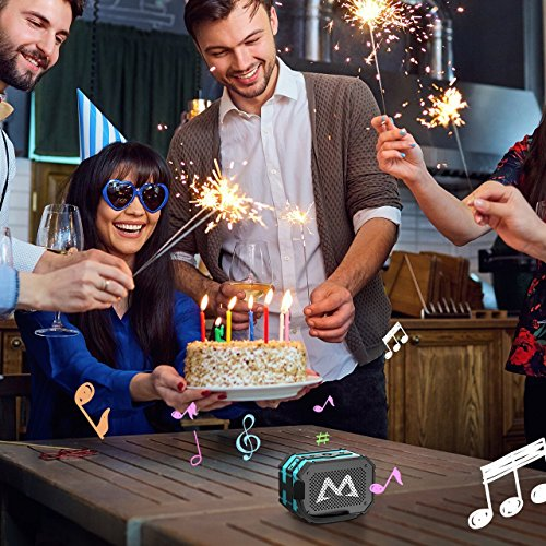 Bluetooth Lautsprecher, Mpow Tragbarer Lautsprecher Bluetooth Drahtloser Lautsprecher Outdoor Wasserdicht 5W Stero Boombox Speaker mit 1000mAh Power Bank Funktion Starker Bass für iPhone 7 7Plus 6S 6S Plus 6 iPod Samsung Huawei HTC und Andere Smartphones (Blau) - 7