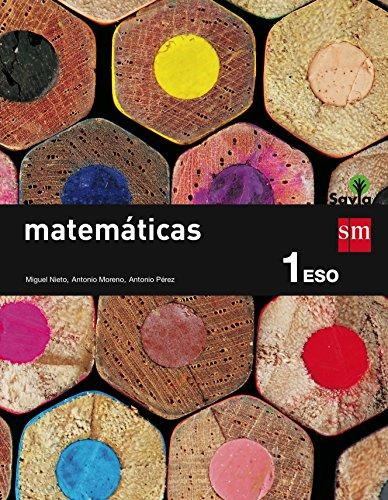 Matemáticas. 1 ESO. Savia - 9788467575941 por Miguel Nieto