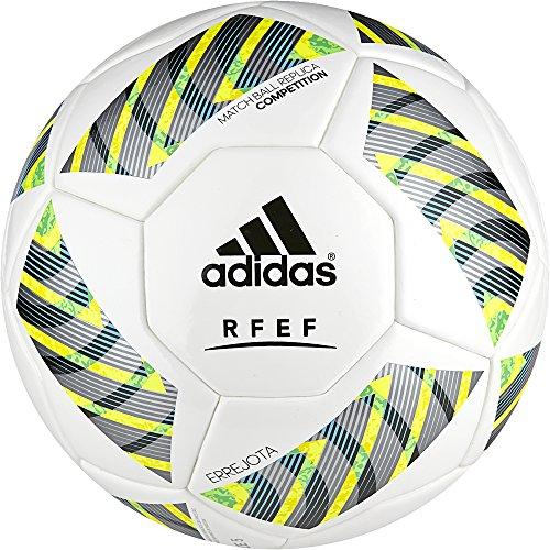adidas FEF Competition - Balón de fútbol, color blanco, talla 5