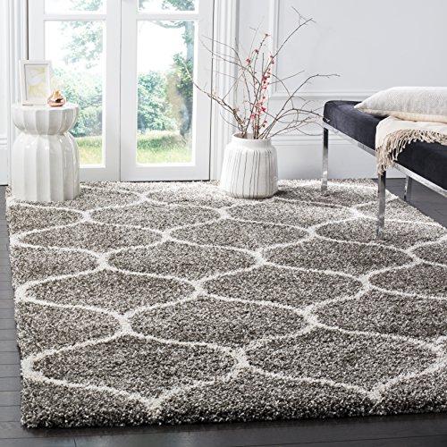 Safavieh Shaggy Teppich, SGH280, Gewebter Polypropylen, Grau/Elfenbein, 90 x 150 cm - Safavieh Transitional Teppiche