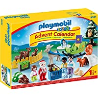 Playmobil Calendrier Avent 1.2.3 'Père Noël Animaux forêt, 9391