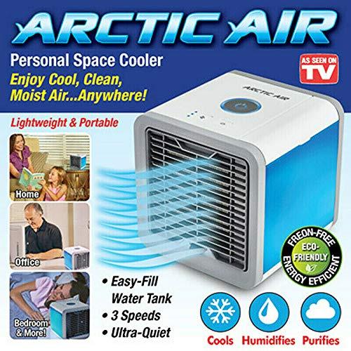 USB Mini Air Cooler Mobile Klimaanlage Luftkühler Tischventilator Aircooler Klimagerät Klima tragbar Ventilator Luftbefeuchter Luftreiniger -