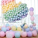 Pastellballonger, party pastellballonger 100 st 25,4 cm macaron godisfärgade latexballonger, födelsedagsballonger för flickor