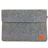 Venetto 13,3 Zoll Macbook Air/ Pro Retina /12,9 Zoll iPad Pro, Microsoft Surface, Laptop Tasche Filz Sleeve Hülle Ultrabook cover (Grau)