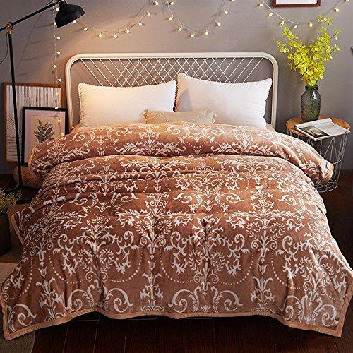 Preisvergleich Produktbild Doppelt dick Decke twin single Plüsch nap Decke coral Fleece - einzelnen kurzen Winter Fleece Decke, 200cmx230cm (ca. 3,6 kg), europäischen und amerikanischen Stil (Kaffee)