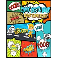 "Comic Sketch Book | Blank Comic Book Draw Your Own Comics - 155 Pages To Make Your Own Comic Book - Large 8.5"" x 11"" Sketch Book For Kids and Adults"