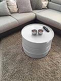Fassmöbel Beistelltisch Ölfass Tisch Fass Design Möbel Couchtisch Grau Ø 57cm