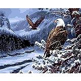 YKCKSD Puzzle 1000 Teile Fliegender Adler Im Winterbild DIY Bilderrahmen Für Raumdekor