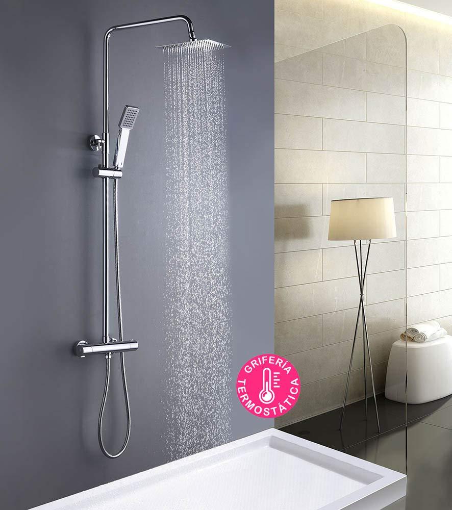 Kibath 417121 Columna de ducha extensible desde 100cm hasta 150cm, Cromado