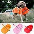 LA VIE Hund Regenmantel mit Kapuze Wasserdichter Reflektierende Hundejacke Haustier Warnweste für Kleine und Mittlere Hunde Katze Welpen Rot/Rosa/Gelb S/M/L
