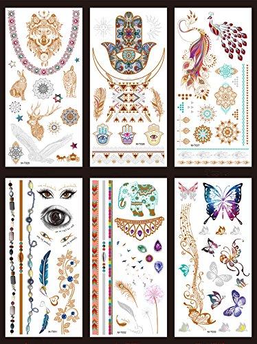 Adulto estrella infantil tatuaje falso tatuaje temporal lindo nuevas pequeñas pegatinas (A)