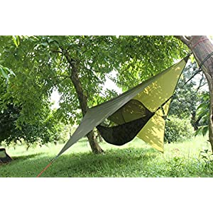 61IBW6x508L. SS300  - ParaCity Camping Shelter Tent Tarp Waterproof Rain Fly Hammock Shelter Lightweight Tarpaulin for Outdoor Camping Hiking