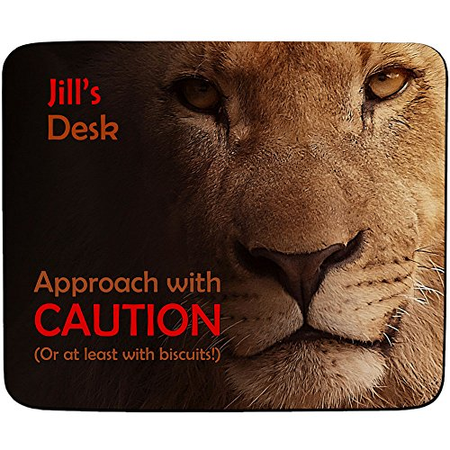 jills-desk-approach-with-caution-lion-design-personalised-name-mouse-mat-premium-5mm-thick