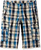 United Colors of Benetton Boys' Shorts (15P4LE1596C0G901XS_Blue and grey_XS)