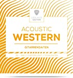 Gitarrensaiten Westerngitarre ♫ Stahl Phosphor Bronze Saiten für Western-Gitarre & Akustikgitarre ♫ 6 Saiten-Set + E-Book