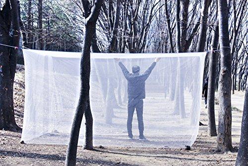SSoonyi Doppel KING Großes Moskitonetz Schlafzimmer Insekten Baldachin Camping Netting Nicht Bleichmittel behandelt