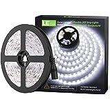 LE Striscia LED 5m 300 LED SMD 2835 Bianco Diurno 6000K, Luce Nastro Luminoso Flessibile 18W 1200lm, Strisce LED 12V per Illuminazione Domestica, Magazzino, Negozio, ecc.