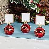 Tischkartenhalter Kugel rot 6er Pack Weihnachten Tischdeko