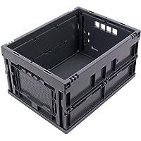 BAC PLIABLE 20 LITRES GRIS, bac gerbable pliant, caisses plastiques pliantes, qualité industrielle, 40x30x22 cm, jusqu'à…
