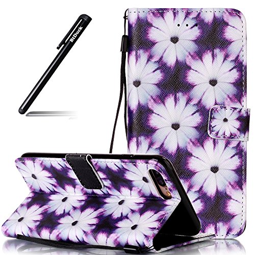 Custodia per iPhone 7 Plus 5.5,BtDuck Libro Stand Case Cover in PU pelle Borsa e Portafoglio Tasca Ultra Sottile Morbido Silicon Gel Back Case Bumper Cover Custodia in Premium PU Pelle per iPhone 7 Pl #10