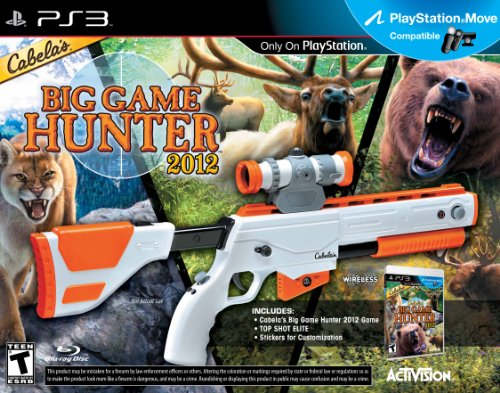 Activision Cabela's Big Game Hunter 2012, PS3 + Top Shot Elite - Juego (PS3 + Top Shot Elite, PlayStation 3, Tirador, T (Teen), Pistola)