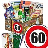 """60 Geburtstag Geschenk DDR - SPEZIALIT�TEN Box mit DDR Waren + Geschenkverpackung """"Verkehrsschild 60"""" mit Ostmotiven + gratis DDR Kochbuch + gratis Geschenkkarten ? Rotk�ppchen Sekt (0,2l), Halberst�dter Schmalzfleisch, rote Gr�tze Himbeer uvm. +++ Ostprodukt DDR Box als Geschenkkorb mit DDR Spezialit�ten ++ Geschenk 60. Geburtstagsgeschenke Geschenkkorb f�r m�nner geburtstagsgeschenk f�r Mutter geschenkk�rbe Geburtstag 60 Mann Ostgeschenke f�r M�nner Geschenk zum 60. Geburtstag M�nner Bild"""