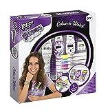 Totum Glamz Kreativ-Set: farbiges Uhrenset mit 3 wasserfesten Armbandstreifen in verschiedenen Designs zum selber Ausmalen