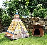 heimtexland Kinder Outdoor Spielzelt Tipi Indianerzelt 95x95x130 cm Indianer Spielhaus Garten Activity Spielzeug Typ543