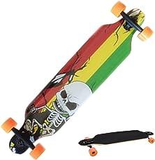 mymotto Longboard Anfänger Erwachsene Kinder Ahorn Skateboard (106 x 26 x 14 cm) Drop Down Street in 3 Verschiedenen Designs