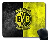 Gaming Mouse Pad, Borussia Dortmund Logo Personalized MousePads Natural Eco Rubber Durable Design Computer Desk Stationery Accessories Gifts For Mouse Pads