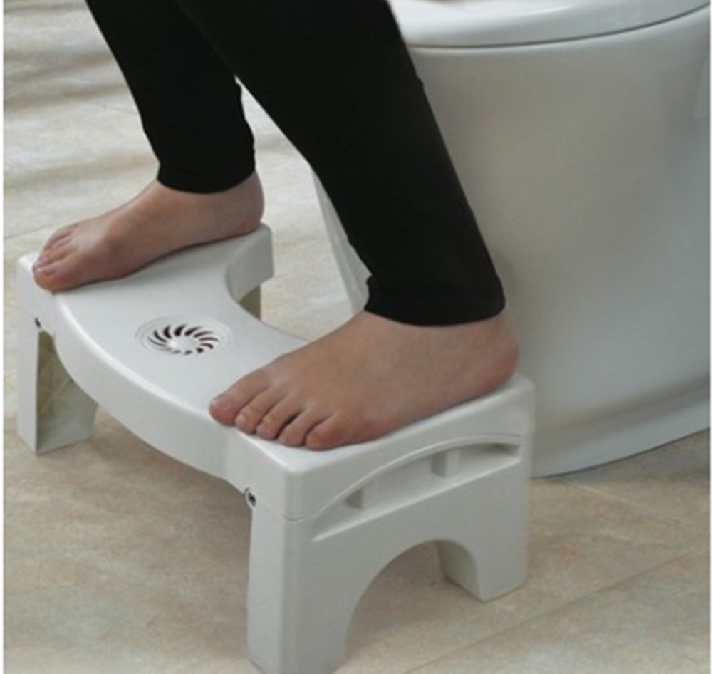 Folding Toilet Stool Stool Toilet Stool Child Booster Stool Toilet Artifact Foot Stool Ddpp Toilet seat foot stool Folding design Built-in spice box Replacement at any time Silicone feet Stable non-slip Massage soles Applicable to elderly people, children, pregnant women, people with constipation. Solid silicone mats never fall off 7