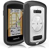 TUSITA Cas pour Garmin Edge GPS Explorer - Housse de Protection en Silicone Peau - écran Tactile Touring Bike Computer Accessoires (Noir)