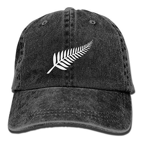 New Zealand Maori Fern Adjustable Cotton Hat Black
