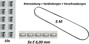 Ø 6mm 5 METER BREMSROHR BREMSLEITUNG ROHR LEITUNG VERZINKT KUNSTSTOFFBESCHICHTET