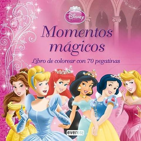Princesas Disney. Momentos mágicos. Libro de colorear con 70 pegatinas (Princesas Disney / Coloreo con