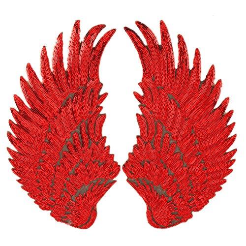 Parches de lentejuelas de alas de ángel grandes