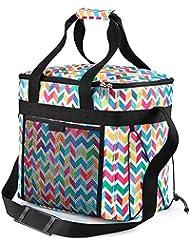 Cabin Max Picnic Cool Bag Large- 28 litros -mochila con cintas para los hombros (Zig Zag)