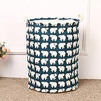 QHGstore Cotone impermeabile barili fascio Port bagagli lavanderia del cestino di immagazzinaggio Cestino Benna orso L