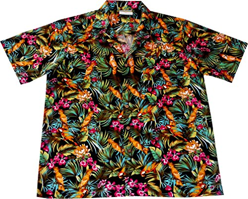 Hawaiian-Shirt-Jungle-Parrots-100-cotton-size-M--6XL