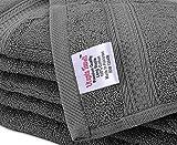 Utopia Towels - Asciugamani viso-mani (confezione da 12, 30 x 30 cm) - Extra Soft multipurpose - Panni per il viso altamente assorbenti - lavabili in lavatrice (Grigio)