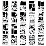 Zeichen Schablonen Grafiken Schablonen, Yosemy 20 Stückfür Bullet Journal Scrapbooking verzieren/ verschönern eines Fotoalbum