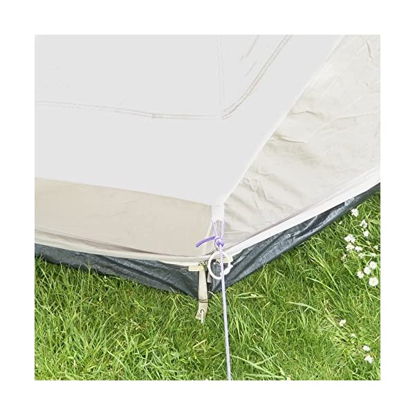 Boutique Camping 4m Lightweight Zipped In Ground Sheet Bell Tent 5