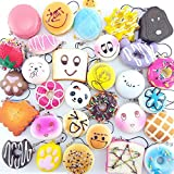 Uminilife 20Pcs Soft Squishy Toys Phone Charm Straps Toy Release Stress Toys