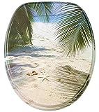 WC Sitz mit Strandmotiv