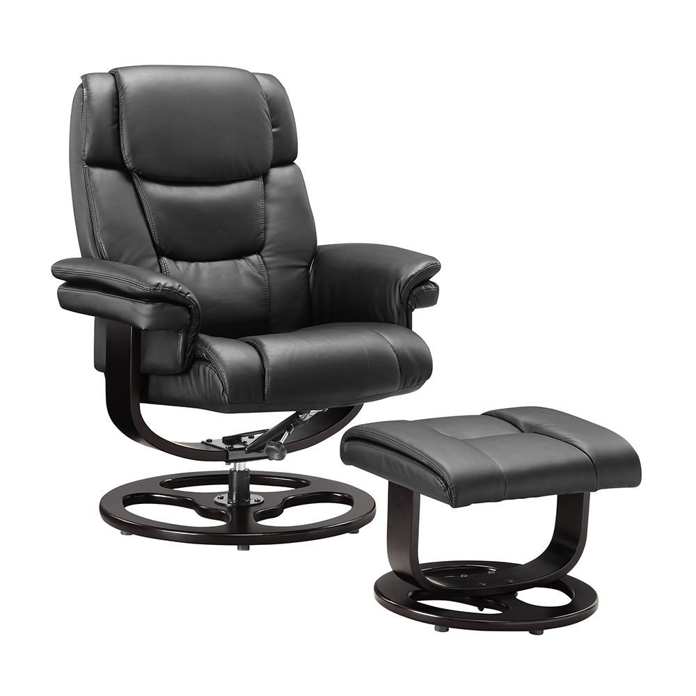 Executive Recliner Chair Bonded Leather With Footstool Black And Brown For Office Home Study By Limitless Base (Black) Amazon.co.uk Kitchen u0026 Home  sc 1 st  Amazon UK & Executive Recliner Chair Bonded Leather With Footstool Black And ... islam-shia.org