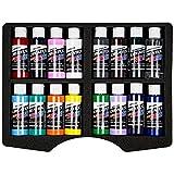 Airbrush Farben 16x 60 ml Createx Opak Koffer Set Basis Grundfarben Airbrushfarben