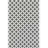 Klebefolie - Möbelfolie Elliott grau Dekorfolie 45 cm x 200 cm Selbstklebende Folie mit modernen Rauten Dekor - Selbstklebefolie