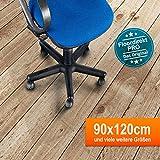 MVPower Polycarbonat Bodenschutzmatte Transparent PVC Büromatten Bürostuhlunterlage für Hartböden Laminat, Parkett und Fliesen(1200 x 900 x 1.5 mm)