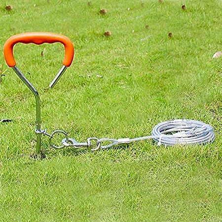 fervory Anlegepflock Für Hunde, Anlegepflock Für Hundeleine Aus Eisen Verchromter Tragbarer Haustier Spiralhering